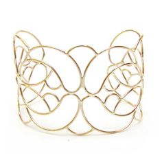 Nouveau Lace Cuff Gold Fill, $123, now featured on Fab.