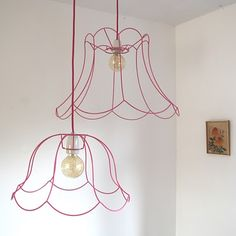 Ghost Wire Lampshade....would be so cute in my girls room. Just like I did in my boutique.