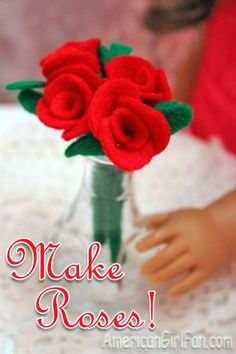 This easy craft at American Girl Fan is perfect for Valentine's Day.