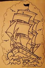 sailor jerry ship drawing - Google Search