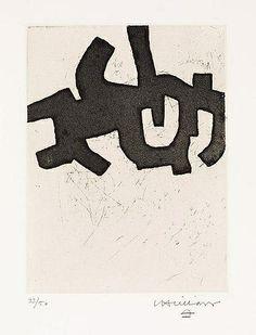 Eduardo Chillida - Hatz IV, 1968, Etching on BFK... on MutualArt.com