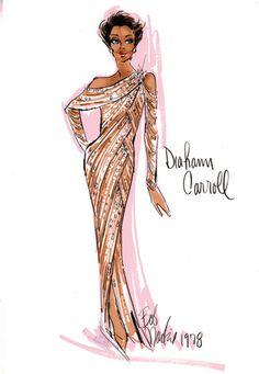 Bob Mackie sketch for Diane Carrol