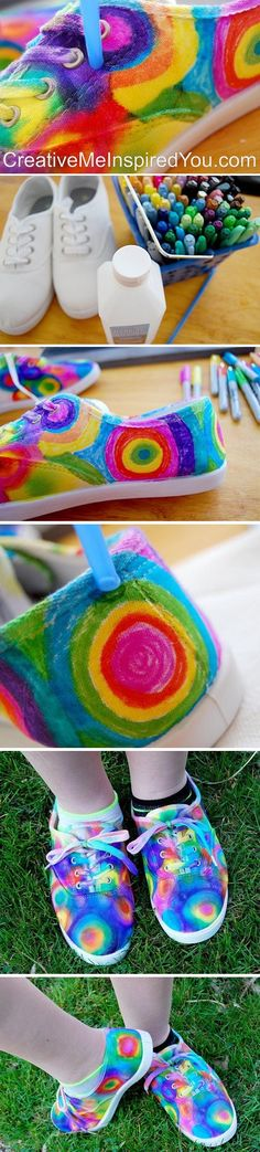 Just for KICKS (Fun Tie Dye Sneakers) - CreativeMeInspiredYou.com