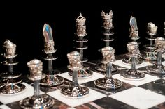 Theo Fennell Silver Chess Set
