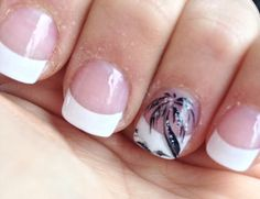 Palm tree French manicure