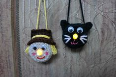 Ornament Double Feature - Black Cat and Scarecrow
