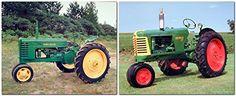 1939 Vintage John Deere And 1953 Oliver Crop Tractor Two ...…