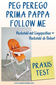 Hochstuhl ab Geburt mit Liegeposition im Praxis Test mit Tipps, Infos und Fotos ... Praxis Test, Peg Perego, Folding Chair, Abs, Home Decor, Pictures, Seesaw, Homemade Home Decor, Folding Stool
