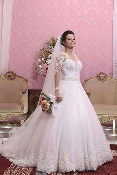 vestido de noiva 2015 with long sleeves wedding dresses bride gown 99fc6a4cf61a