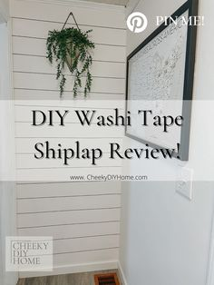 This is a review on the very affordable washi tape hack for a faux shiplap look. This wall cost me 50 CENTS! #cheekydiyhome #shiplap #diyproject Washi Tape Diy, Faux Shiplap, Diy Hacks, Diy Projects, Photo And Video, Wall, Instagram, Home Decor, Decoration Home
