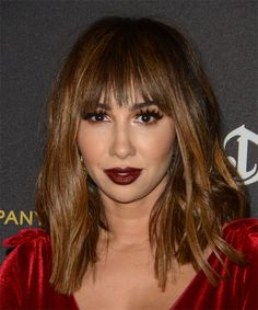 Jackie Cruz Long Straight Casual Hairstyle with Layered Bangs, Face Shape Hairstyles, Try On Hairstyles, Long Hairstyle, Casual Hairstyles, Straight Hairstyles, Oval Face Shapes, Oval Faces, Fly Away Hair, Diamond Face Shape