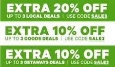 Groupon Canada Offers: Save Extra 20% Off Local Deals 10% Off Goods & Getaways Deals With Promo Code http://www.lavahotdeals.com/ca/cheap/groupon-canada-offers-save-extra-20-local-deals/189431?utm_source=pinterest&utm_medium=rss&utm_campaign=at_lavahotdeals