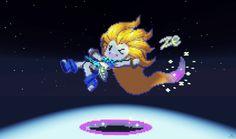 League of Legends Zoe Minecraft Pixelart by kazaret