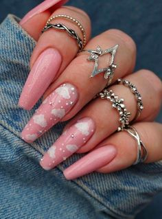 Acrylic nails winter nails Coffin nails Nails design Nails inspiration Short nails Long nails Stiletto nails nails in 2020 Edgy Nails, Stiletto Nails, Trendy Nails, Gel Nails, Nail Polish, Manicures, Grunge Nails, Nails News, Nail Nail