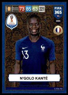 a5915caa6 Details about Panini FIFA 365 2019 Adrenalyn XL Kanté France GOLD  World  Cup Heroes No.385