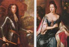 King William III and Queen Mary II (1689-1702). House of Orange. 2nd cousin 8…