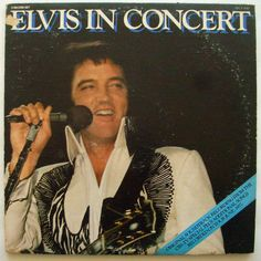 ELVIS PRESLEY ELVIS IN CONCERT Recorded from CBS TV SPECIAL and from TOUR 77 2LP