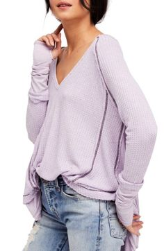 Free shipping and returns on Free People Laguna Thermal Top at Nordstrom.com. This cozy thermal top cut with a wide neckline is perfectly flowy, slouchy and versatile.