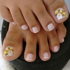 Pretty Toe Nails, Cute Toe Nails, Cute Toes, Pretty Toes, Fancy Nails, 3d Nails, Toe Nail Color, Toe Nail Art, Nail Colors