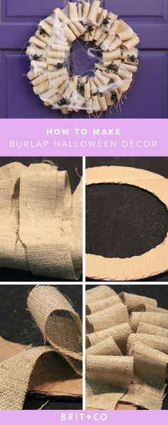 Save this DIY to make a fun + unique burlap Halloween decor to make for the fall.