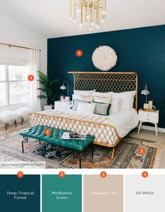 20 Dreamy Bedroom Color Schemes Shutterfly with regard to Modern Bedroom Color Schemes Best Bedroom Colors, Bedroom Color Schemes, Teal Bedroom Walls, Dark Teal Bedroom, Small Bedroom Paint Colors, Modern Color Schemes, Home Color Schemes, Apartment Color Schemes, Accent Wall Bedroom