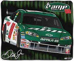"Dale Earnhardt Jr. #88 50""x60"" Royal Plush Raschel Throw Blanket"