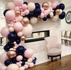 Gender Reveal Ideas For Party - Olivia Gonzalez Gender Reveal Party Decorations, Baby Gender Reveal Party, Balloon Decorations, Birthday Decorations, Baby Shower Decorations, Gender Reveal Ballons, Idee Baby Shower, Baby Shower Parties, Baby Shower Themes