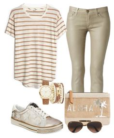 """""""Casual"""" by alice-fortuna on Polyvore featuring Hudson, MANGO, Bebe, Madewell, Mixit and Ray-Ban"""