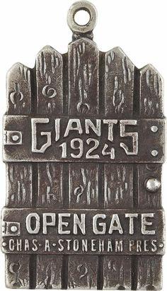 Silver Season Pass, New York Giants, 1924
