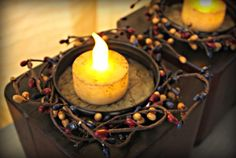 Make Rustic Candle Holders from Bed Risers