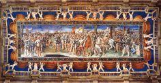 Soffitto col Giuramento di Sermide, G. Genga. Villa Imperiale - Pesaro.