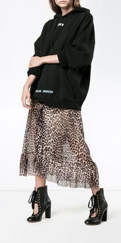 Ganni Peirce mesh leopard print skirt, explore new season Ganni on Farfetch