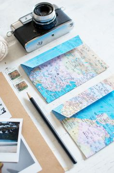 How to make map envelopes www.apairandasparediy.com