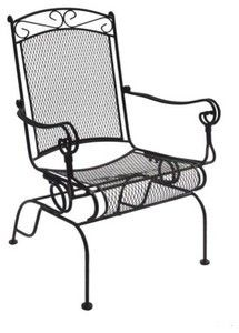 Creating the Perfect Patio with Wrought Iron Chairs wrought iron chairs charleston wrought iron high back rocking chair (set of DPVBUPB