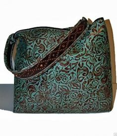 ☯☮ॐ American Hippie Bohemian Style ~ Boho turquoise tooled leather bag!