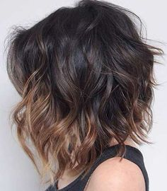 This cut with long hair color!