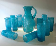 Blown Glass 1960s Mexican Pitcher and by BrickRowCollectibles, $85.00