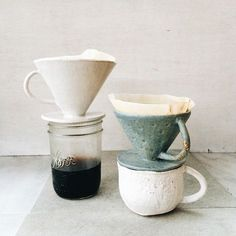 Pour-over coffee for a zero waste, plastic-free coffee routine