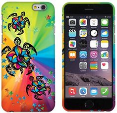 """myLife Green, Yellow, and Pink {Rainbow Tropical Floral Sea Turtles} 2 Piece Snap-On Rubberized Protective Faceplate Case for the NEW iPhone 6 (6G) 6th Generation Phone by Apple, 4.7"""" Screen Version """"All Ports Accessible"""" myLife Brand Products http://www.amazon.com/dp/B00U2VN46Y/ref=cm_sw_r_pi_dp_C8xhvb06TP7JB"""