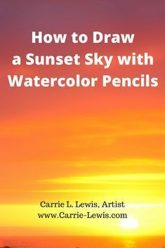 Painting a bright, sunset with watercolor pencils is easier than it might at first appear. Especially when you add details with dry drawing techniques.