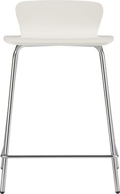 """Felix 24"""" White Counter Stool  White Counter Stool. 24.5""""H seat; 19.25""""Wx19.25""""Dx29""""H Birch bentwood and basswood veneer - White painted with polyurethane finish - Chrome tube base with powdercoat finish  24.5""""H seat sized for counters; 30""""H seat sized for bars Overall Dimensions Width: 19.25"""" Depth: 19.25"""" Height: 29"""" Seat HeightHeight: 24.5"""" Seat DepthDepth: 16"""""""