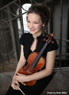 Hilary Hahn virtuoso violinist. World class elegance as a person and a musician.