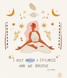 When was the last time you took a long, deep, belly-filled breath? ❈ I created this lil yogi as a daily reminder for myself to BE STILL &… Peace Quotes, Life Quotes, Positive Vibes, Positive Quotes, Yoga Kunst, Stage Yoga, Yoga Lyon, Yoga Art, Yoga Inspiration