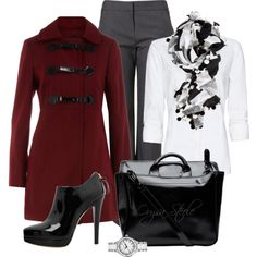 Crimson Coat, created by orysa on Polyvore (except I am pretty sure I would fall off those shoes....)