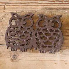 Cast Iron Double Owl Trivet