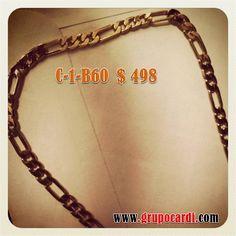 Cadena Cartier Oro Laminado Marca Cardí Codigo C-1-B-60  $ 498