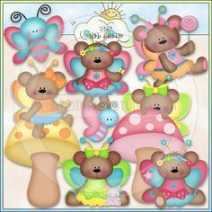 Fairy Bears 1 - NE Kristi W. Designs Clip Art