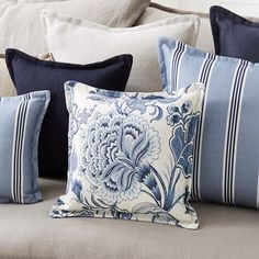 Warwick Fabrics: THORNBURY for living cushions Warwick Fabrics: THORNBURY for living cushions The post Warwick Fabrics: THORNBURY for living cushions appeared first on Upholstery Ideas. Blue And White Living Room, Cushions, Beach House Decor, Hamptons Style Living Room, Hamptons Bedroom, Lounge Cushions, Warwick Fabrics, Blue White Decor, Coastal Style
