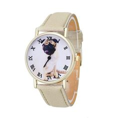 Quartz Pug Wrist Watch [4 variants]