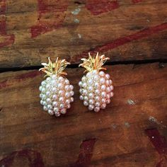 NEW! Pineapple Pearl Pop Studs
